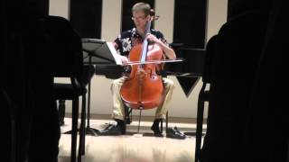 Davidovsky Synchronisms No. 3 for Cello and Electronic Sound live