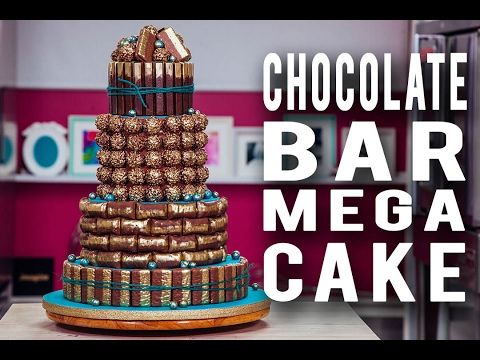 How To Make A CHOCOLATE BAR MEGA CAKE Loaded Inside & Out With Your FAVE Chocolate Pieces