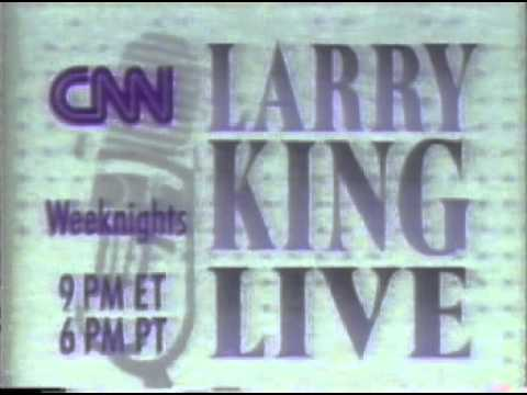"1990 CNN ""Larry King Live"" commercials"