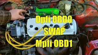 DIY Dpfi to Mpfi Swap - Mini Me Vtec Swap - Honda EF Sedan swap