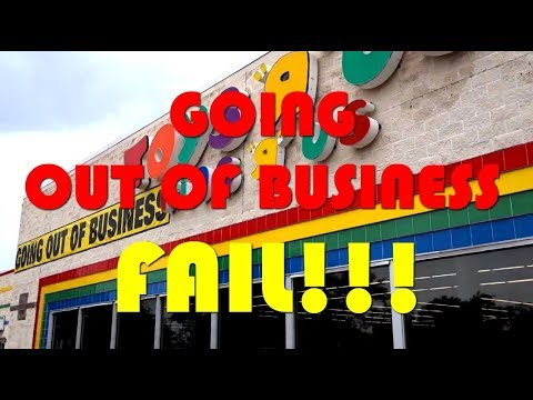 Toys R Us Closing Going Out Of Business Sale Fail V1208