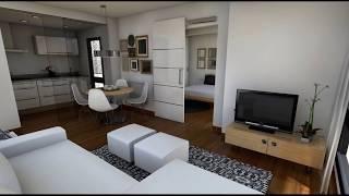Diseño Interior: Apartamento 40 m2 thumbnail