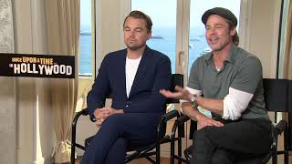 Once Upon a Time in Hollywood || Brad Pitt and Leonardo DiCaprio Cannes Junket || #SocialNews.XYZ