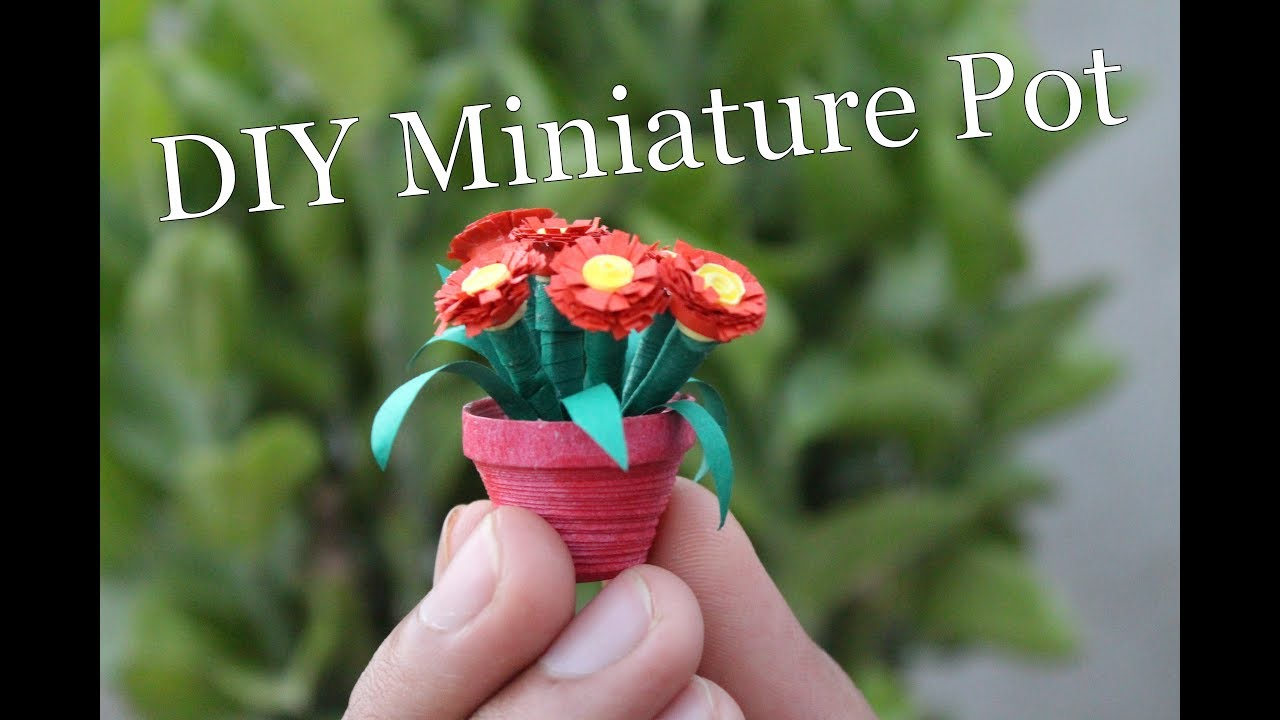 Diy Miniature Pot I How To Make Pot With Quiling Paper At Home I