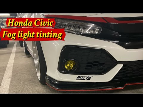 Diy Fog Light Tint Install in Honda Civic Hatchback 10th Gen