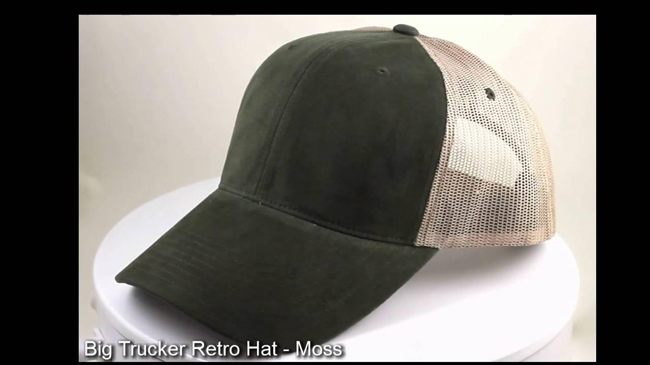 360-Degree Big Trucker Retro Hat - Moss - YouTube 6d26289882d6