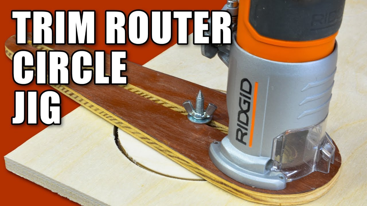Circle Cutting Jig For A Trim Router Cutting Circles In