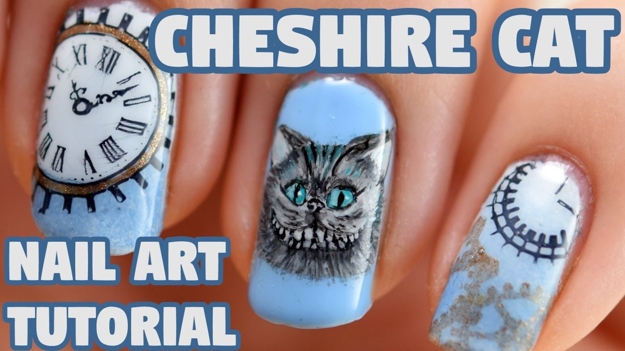 Cheshire Cat Alice Through The Looking Gl Nail Art