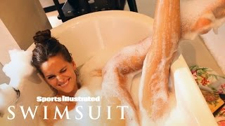 Izabel Goulart Slips Into A Warm Bubble Bath In Singapore | Outtakes | Sports Illustrated Swimsuit