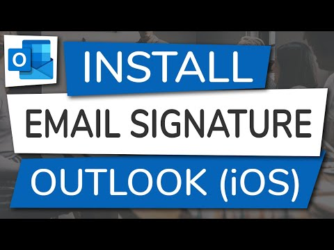How To Install An Email Signature In Outlook On IOS (iPhone And IPad)