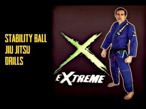 Stability ball Jiu-Jitsu Drills