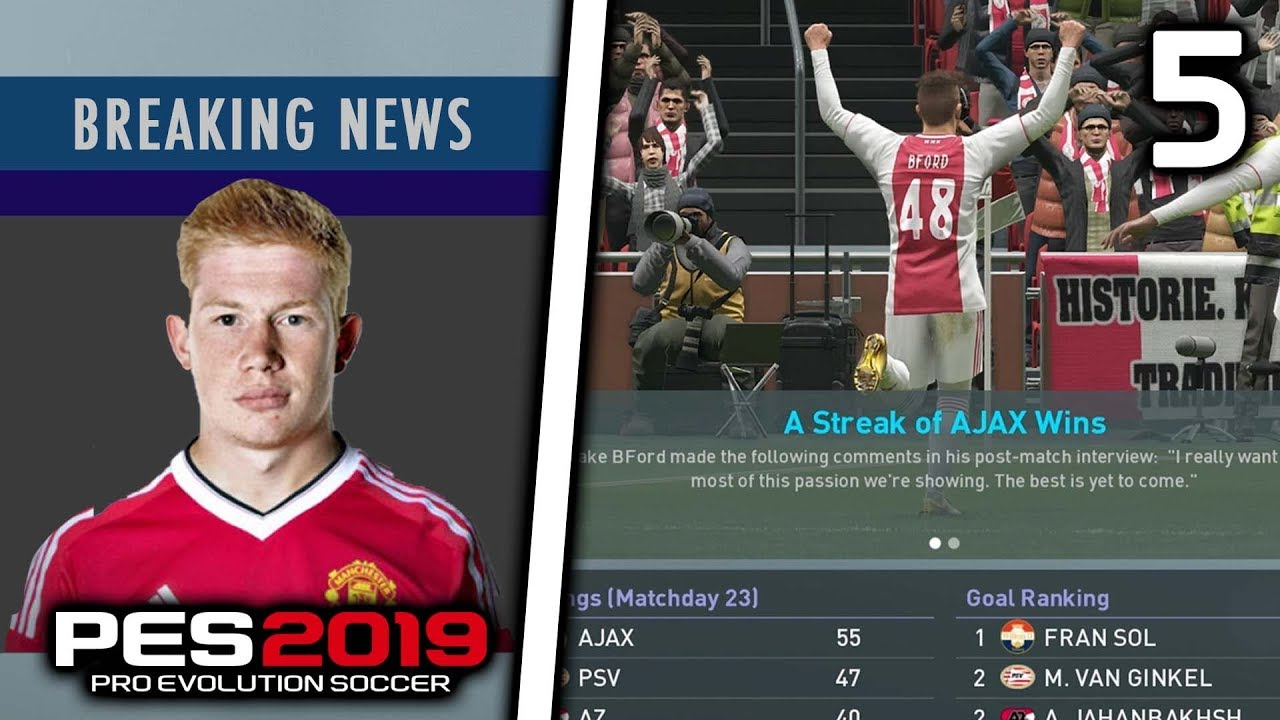 KDB TO MAN UNITED! | PES 19 BECOME A LEGEND MY PLAYER CAREER MODE!! Episode  #5