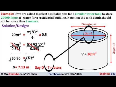 Circular Water Tank Design