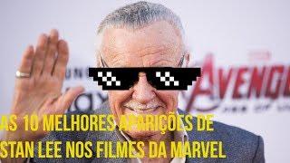 CONFIRA AS 10  MELHORES  APARIÇÕES DE  Stan Lee nos filmes da Marvel