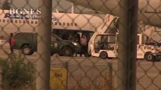 Самолетът със заподозрения за убийството на Виктория Маринова кацна в София