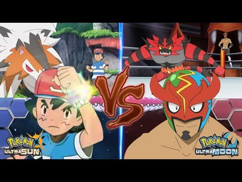Pokemon Battle USUM: Ash Vs Masked Royal Pro Wrestler