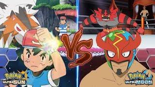 Pokemon Battle USUM: Ash Vs Masked Royal (Pro Wrestler)