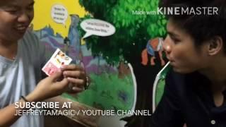 JEFFREY TAM Card trick W/ RONNIE ALONTE & ERIC NICOLAS