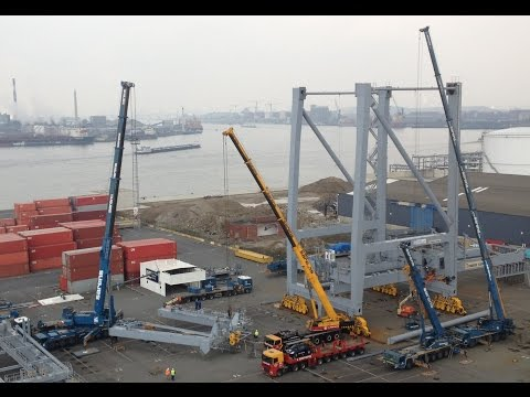 Construction of a Gantry crane! Port of Antwerp shows how to build a Gantry Crane!