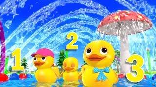 Учимся считать до 10 - Уточки - Детские песенки Литл Бэйби Бам