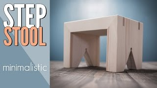 In this video I am building a minimalistic step stool which is fairly easy to build. I mostly use power tools but there should be not