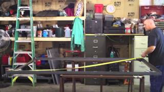 How To Build A Utility Trailer Part 2 Cutting, Squaring And Tack Welding