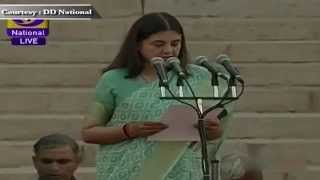 Smt Maneka Sanjay Gandhi sworn-in as Cabinet Minister in new Government
