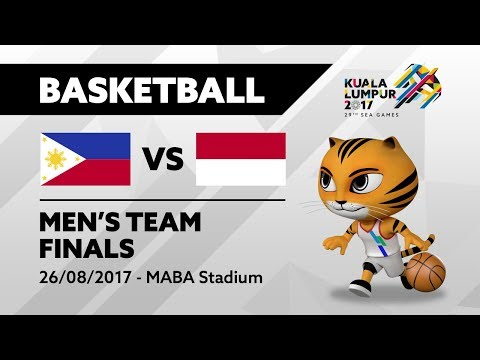 KL2017 29th SEA Games | Men's Basketball - FINALS - PHI 🇵🇭 vs INA 🇮🇩 | 26/08/2017