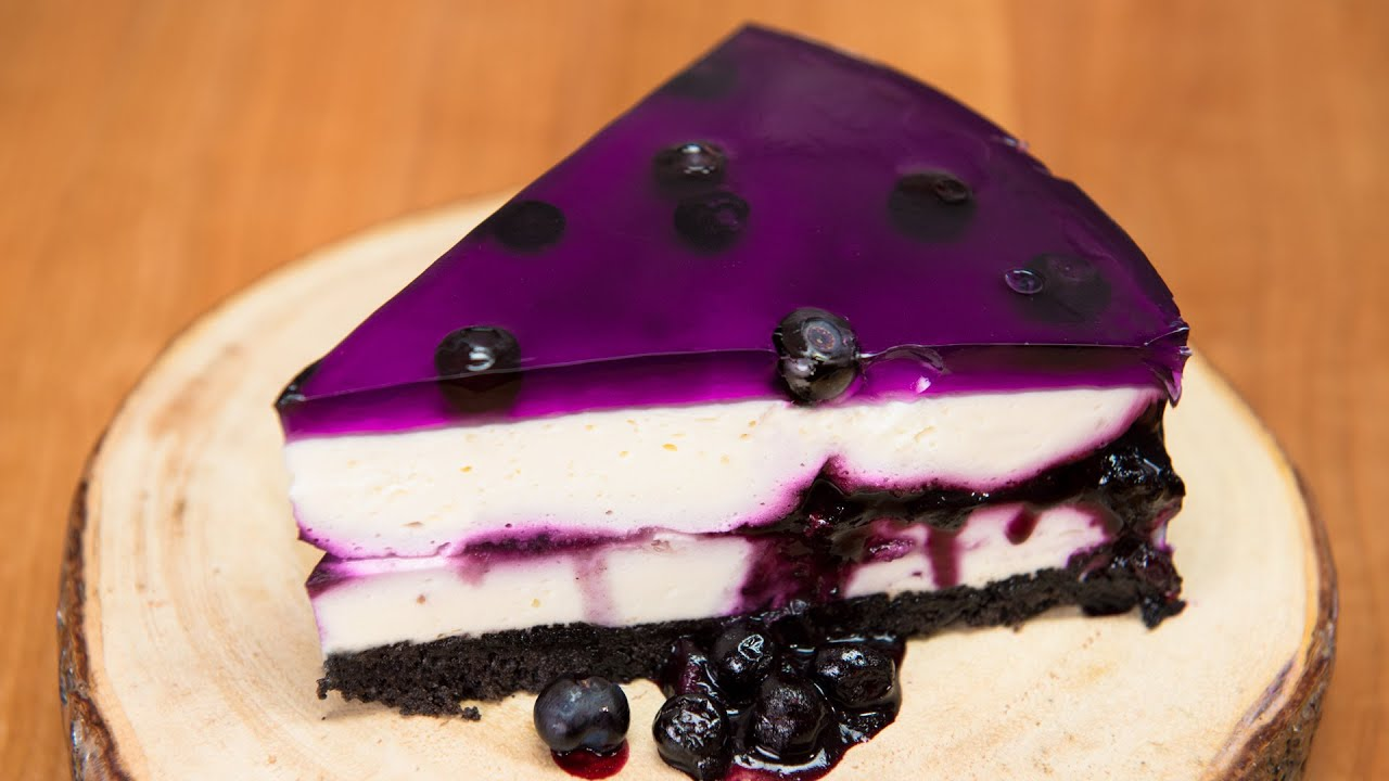 Huckleberry Blueberry Cheesecake No Bake Recipe From Cookies Cupcakes And Cardio Youtube