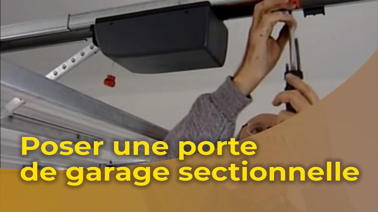Poser Une Porte De Garage Sectionnelle Motorisee Youtube