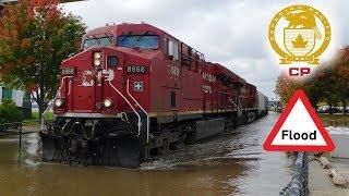 Suda trenler - CP Mississippi Sel Suları İle Pulluk Trenler! - Ekim 2018