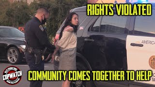 Cuffed & Searched for No License | CommUnity Comes Together to Help | Real Talk! | Copwatch