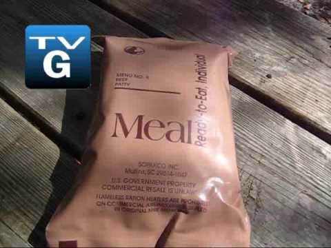Meal Ready to Eat MRE Menu 8 - Grilled Beef Patty