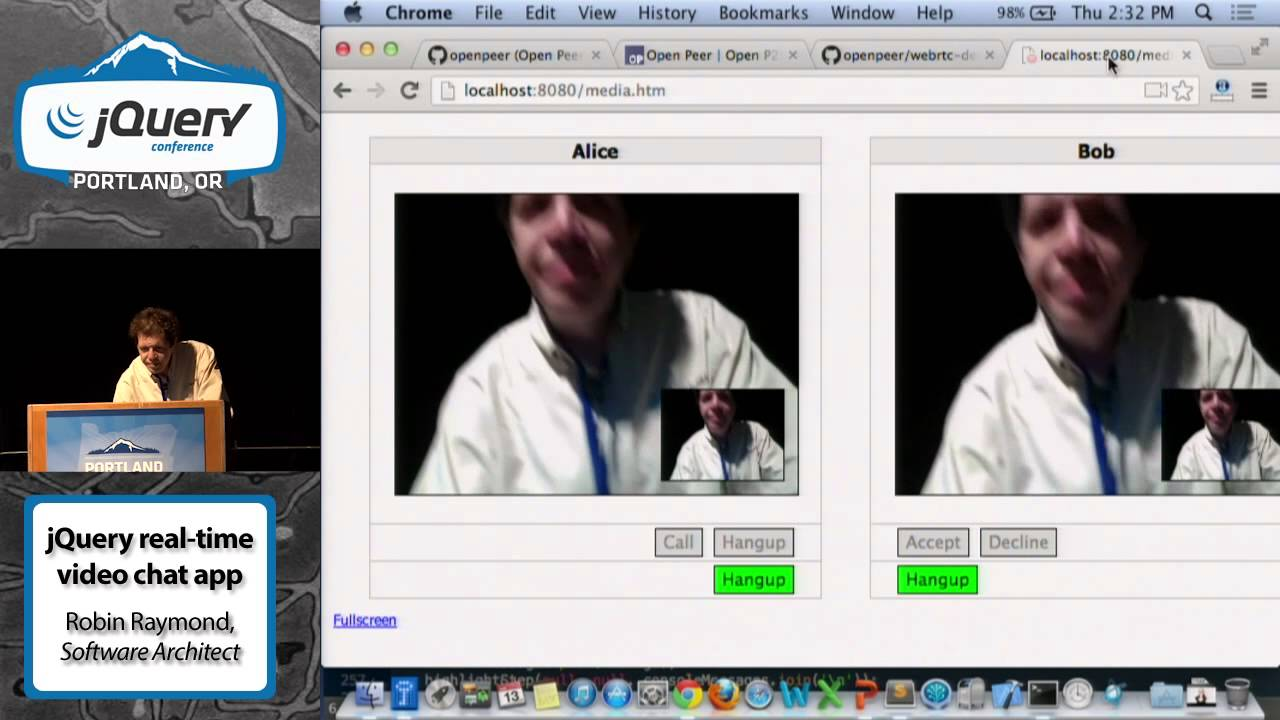 Using jQuery to Build a Federated, Real-Time Video Chat App - Robin ...