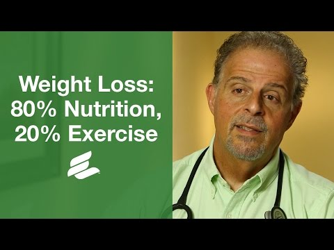 Weight Loss: 80% Nutrition, 20% Exercise