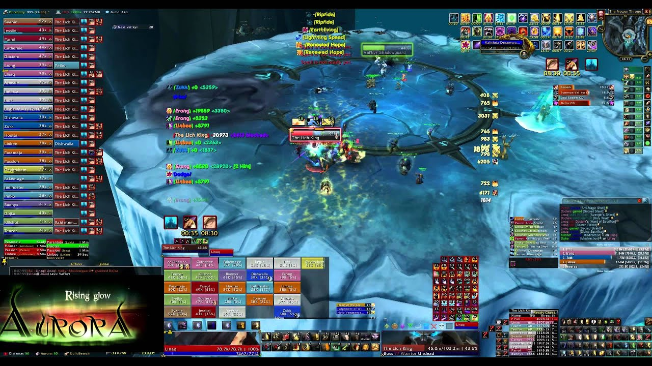 AURORA, SOLO TANK The Lich King 25 Heroic (Protection Paladin POV)
