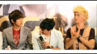100621 U-Kiss Interview in Singapore Part 1/3