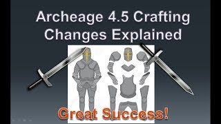 Archeage 4.5 Crafting Cost & New Obsidian Tiers