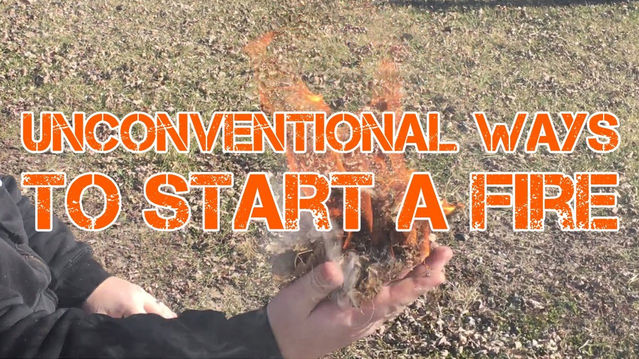 how to start fire without paper