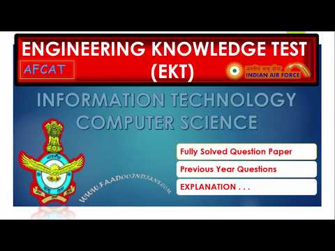 EKT - Engineering Knowledge Test - AFCAT  Solved Question Paper
