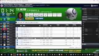 Live NFL.com Fantasy Football Mock Draft Free HD Video