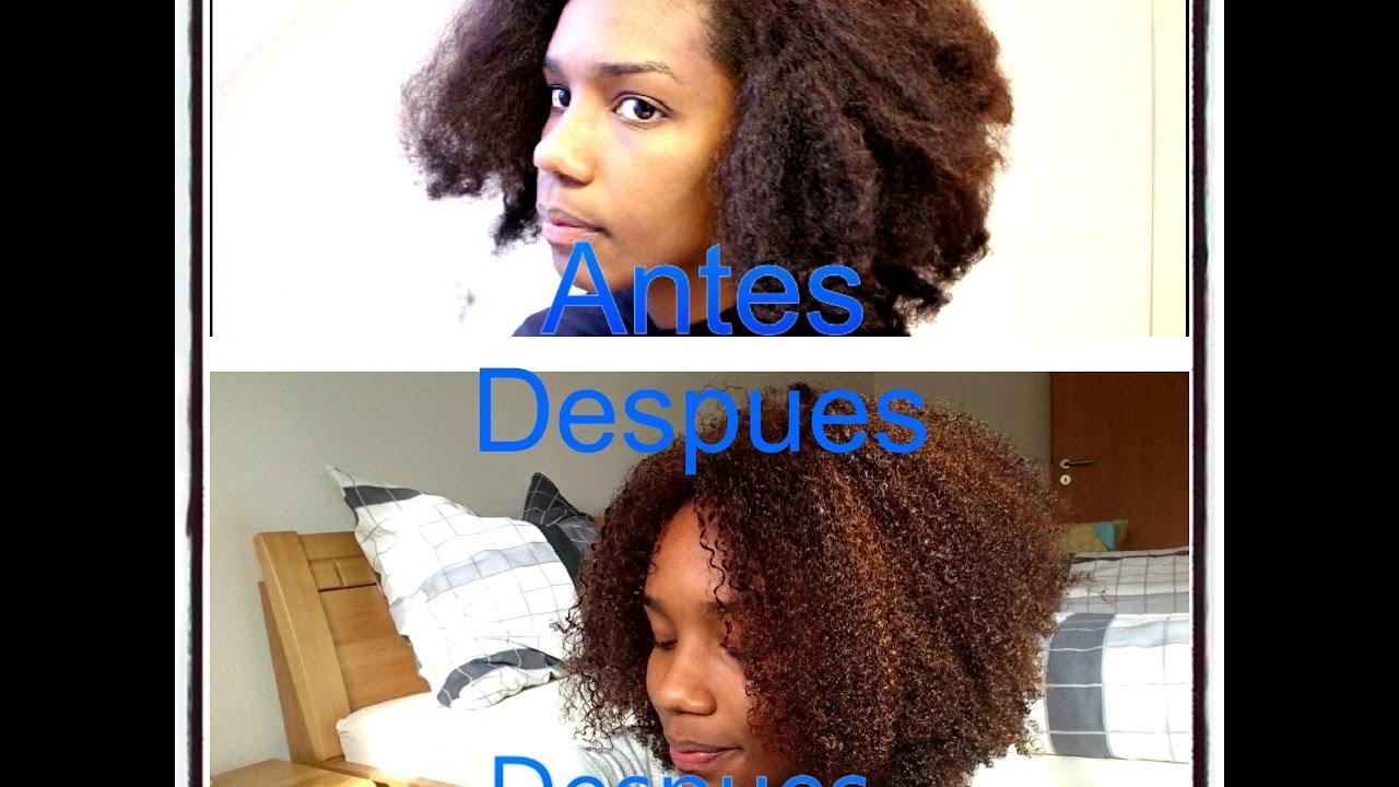 keratina en el pelo afro sin dejarlo liso paso a paso en