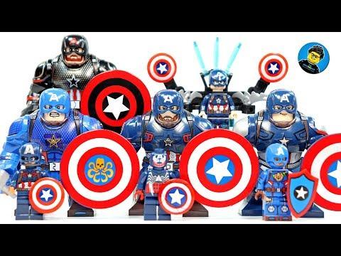 Lego Captain America Unofficial BigFigs & Minifigs
