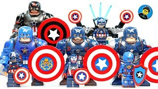 Lego Captain America Unofficial BigFigs & Minifigs