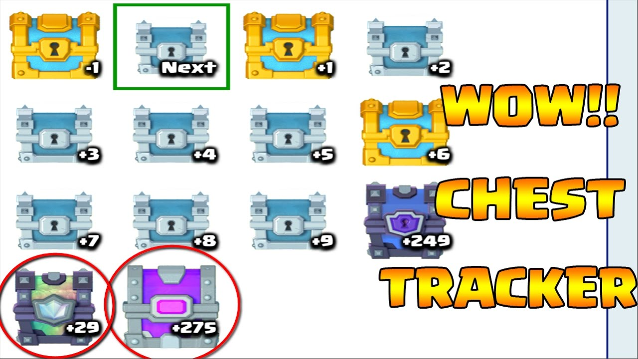 STATS ROYALE! CHEST CYCLE TRACKER IN CLASH ROYALE!! - YouTube