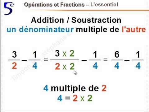 Maths 5ème - Opérations et fractions - Mathématiques ...
