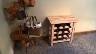 Wormy Maple Wine Rack Table