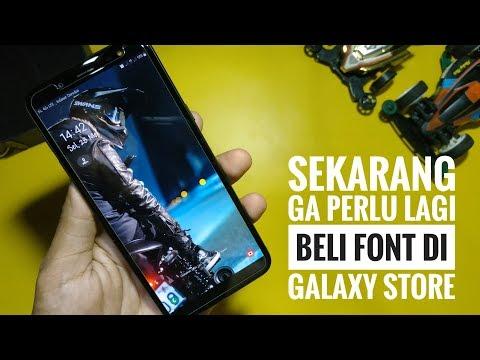 GRATIS Cara Mengubah Font Pada Samsung Galaxy ONE UI Android Oreo Dan Pie