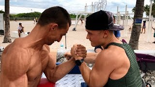 $100 IF YOU WIN! Armwrestling Challenge