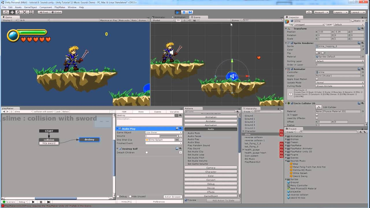 Art155 Unity Part 10 2d Game Music And Sound Effects